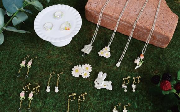 Miffy和花主題的飾品,6月在Miffy花店「FLOWER MIFFY」販售