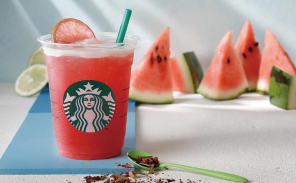水感十足的西瓜在星巴克飲料裡!「Shaken Watermelon & Passion Tea」新發售