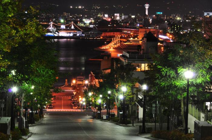 八幡坂夜景
