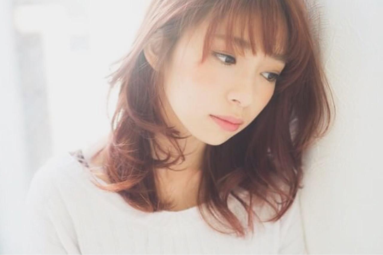 ミディアムのピンクブラウンスタイル♡ ひろみ