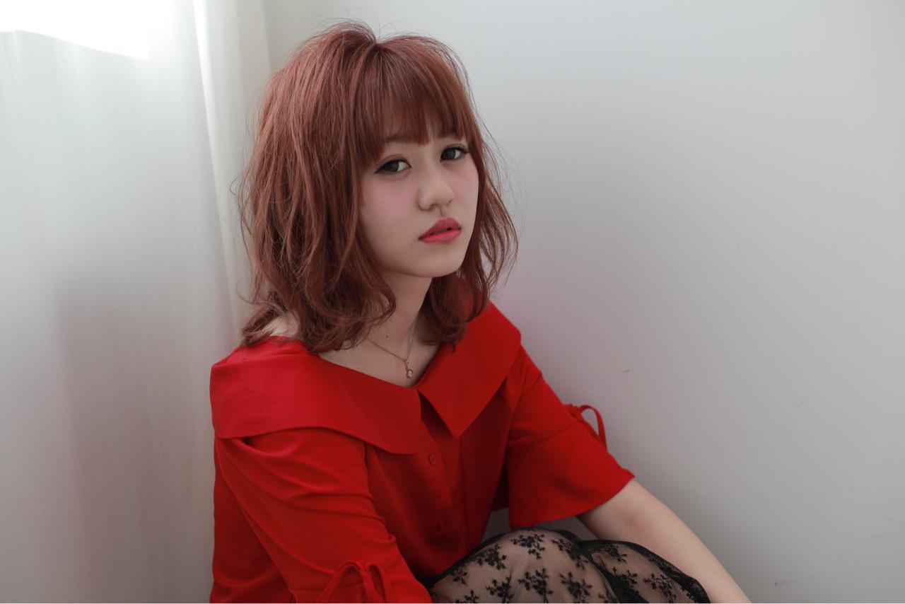 ピンクベージュにおすすめのミディアム 中嶋 勇太