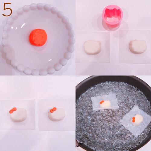 """簡単にできる""""キャラスイーツ""""レシピを紹介! """"キティーちゃんの3層ミルクプリン""""5"""