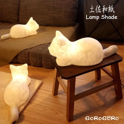 ヴィレヴァンオンライン 和紙猫ランプ