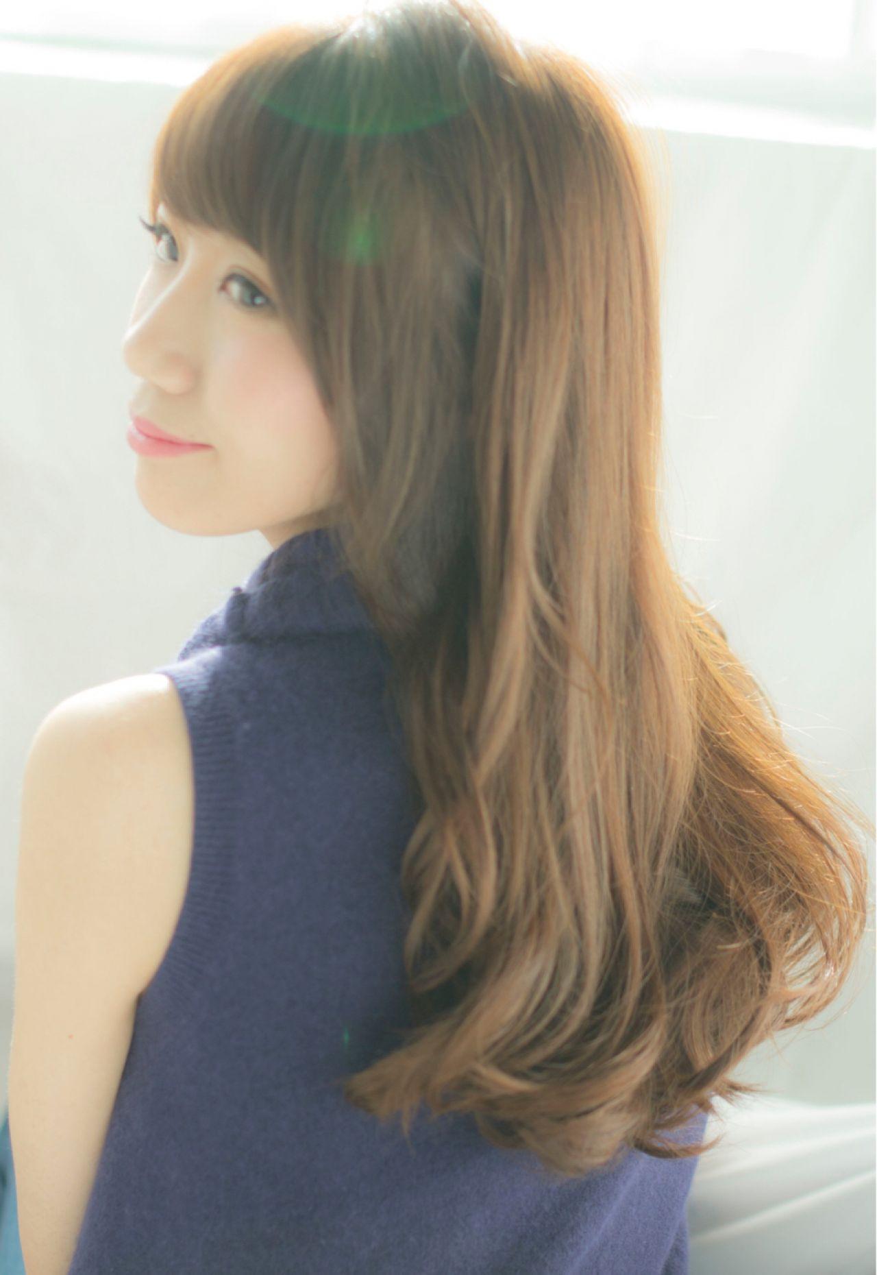 同時兼顧透明感的髪色・巧克力棕♡ NARUOKA