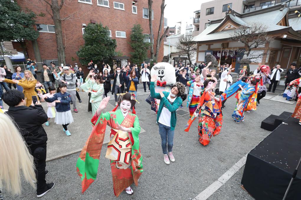 盆踊り もしもしにっぽん 穏田神社3