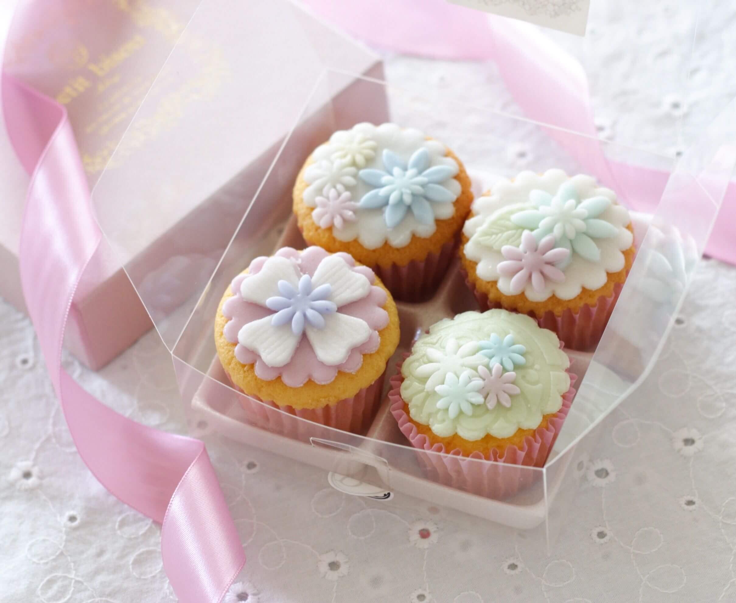 「petit bisou」デコレーションカップケーキ