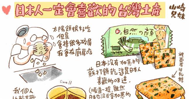 山崎兄妹來為大家介紹日本人收到會開心的台灣伴手禮
