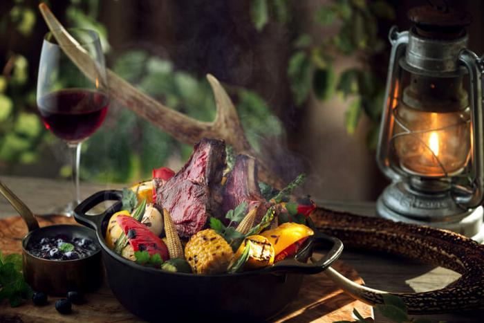星のや富士「夏の狩猟肉(ジビエ)ディナー」