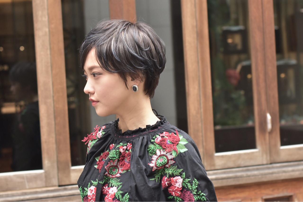 ブルー・オリーブ系カラー・ショート カワノナオト【福岡美容師】